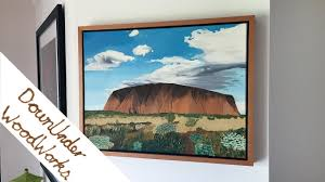 make a floating frame for a canvas painting or print