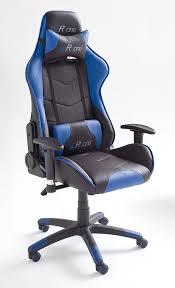 fauteuille de bureau gamer fauteuil de bureau gamer en pu noir et bleu racing fauteuil de