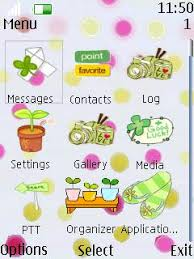 nokia 206 cute themes free nokia asha 206 cute green icons app download in cartoons tag