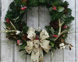 deer antler wreath etsy