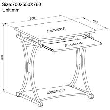 Kleiner Schwarzer Schreibtisch Piranha Kompakter Computer Schreibtisch In Grafitschwarz Für Das