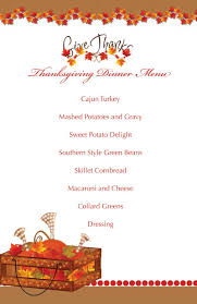 charming thanksgiving menu template free ideas exle resume and