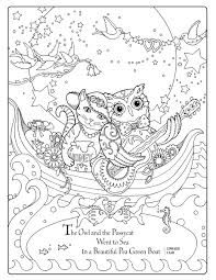 tangled things to color a whimsical coloring book for adults owl