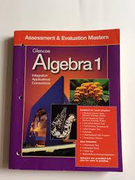 glencoe algebra 1 assessment u0026 evaluation masters collins