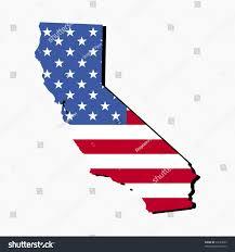 California State Flag Map State California American Flag Illustration Stock Vector