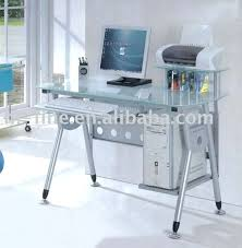 Glass And Chrome Desk Glass Top Home Office Desk Excellent Office Table Designs With