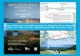Map Walking Distance The Great Ocean Walk Great Ocean Road And Region Victoria