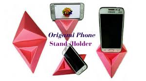 origami how to make a phone stand holder paper phone stand