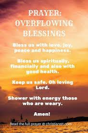 overflowing blessings