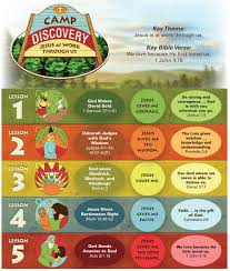 camp discovery vbs daily bible lesson chart campdiscoveryvbs