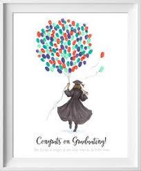 books for graduates high school graduation thumbprint fingerprint guest book party ideas