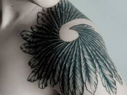 watercolor feather into bird tattoo in 2017 real photo pictures