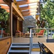 Patio Covers Seattle Beautiful Solar Patio Cover Image Ideas With Wood Pillars Covering
