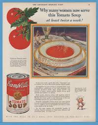 1926 campbell tomato soup can vintage home kitchen wall décor
