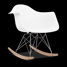 Eames Inspired Rocking Chair Wonderful Eames Style Rocking Chair In Mid Century Modern Chair