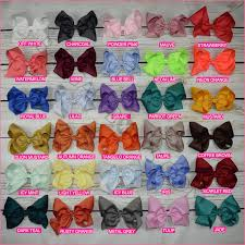 hair bows basic color 8 inch hair bow bundle bargain bows