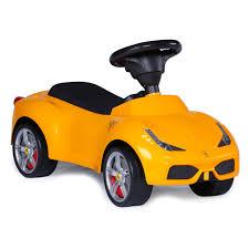 Ferrari F12 Yellow - ferrari f 12 kids ride on push car yellow