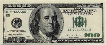benjamin franklin on 100 one hundred dollar bill