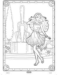 color alive barbie crayola coloring pages
