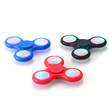fidget spinner light up blue 5 pack fidget spinner led light up switch control ultra high speed