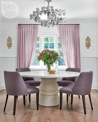 modern furnishings and a pale purple palette give a home an au