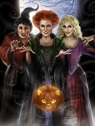 disney halloween theme background mary winifred and sarah the three sanderson sisters played by