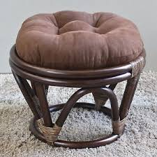 Papasan Ottoman Papasan Footstool With Cushion Ottoman Rattan Furniture