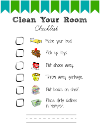 kids room printable room cleaning checklists for kids views from a step stool