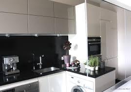 cuisine moderne et noir emejing cuisine beige et noir gallery design trends 2017