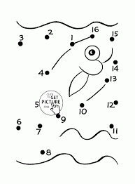 fish dot dot coloring pages preschoolers connect dots