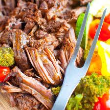 Balsamic Roast Beef In Oven Crock Pot Rump Roast Civilized Caveman