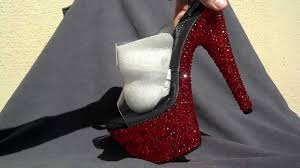 red crystal rhinestone heels pleaser adore 702 youtube