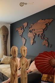 Wooden World Map Wall Art by World Map Palisander Mapawall Com