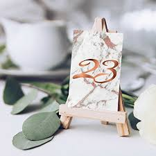 gold wedding table numbers marble wedding table numbers copper wedding set of wedding table