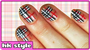 plaid nail art nail art designs for beginner nail art tutorial