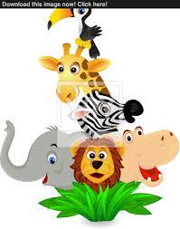 safari cartoon safari cartoon vector yayimages com