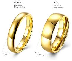 couples wedding rings aliexpress buy simple wedding rings pair gold color