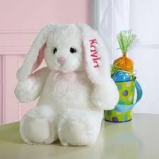 personalized easter bunny soft plush easter bunny with embroidered name on ear for