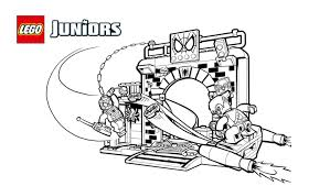 lego juniors spider man hideout coloring page coloring pages