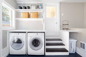 large laundry room with folding table laundry room transitional