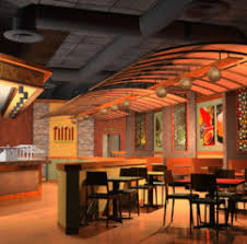 home design d rendering of a restaurant interior design stock