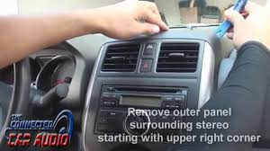 nissan versa note manual remove factory stereo nissan versa 2012 and up youtube