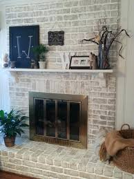 whitewash fireplace stone lowes brick whitewashed whitewash brick
