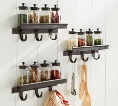 modular spice shelf with hooks pottery barn