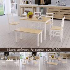 Dining Tables With Bench And Chairs Dining Table And Bench Set Ebay