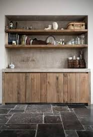 Kitchen Cabinets Open Shelving Drawers Doors Are Old Boards Used To Age Cheese Set Into Ikea