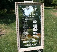 Wedding Ceremony Programs Diy Wedding Ceremony Program On Vintage Mirror 22