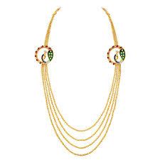 necklace design gold images Buy spargz antique multi line long beads necklace set peacock jpg