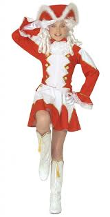 majorette fancy dress costume for girls in red and white by