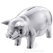 engraved piggy bank reed and barton classic silver piggy bank